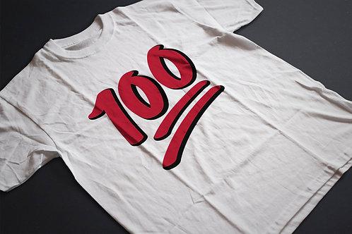 100 pont   grafikás férfi fehér pamutpóló