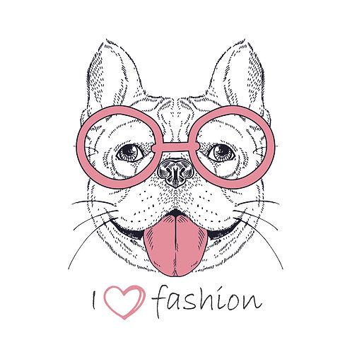 I love fashion | grafikás női fehér pamutpóló