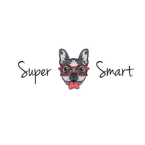 Super smart | grafikás női fehér pamutpóló