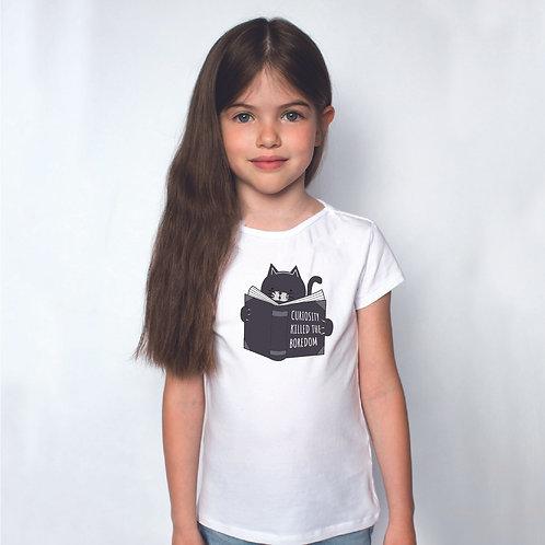 Kivancsi cica | grafikás kislány pamutpoló