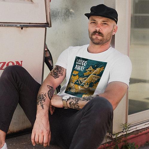 House | grafikás férfi fehér pamutpóló