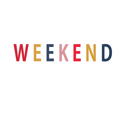 Weekend   grafikás női fehér pamutpóló