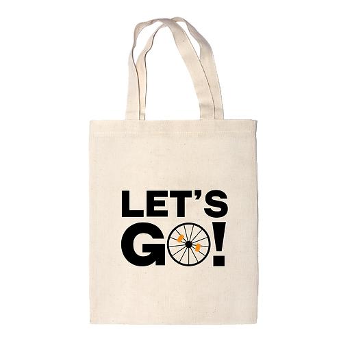 Let's go   bicikli mintás vászontáska