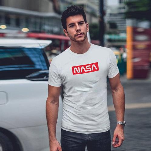 Super NASA   grafikás férfi pamutpóló