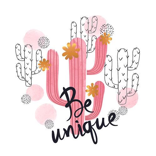 Cactus | grafikás női fehér pamutpóló