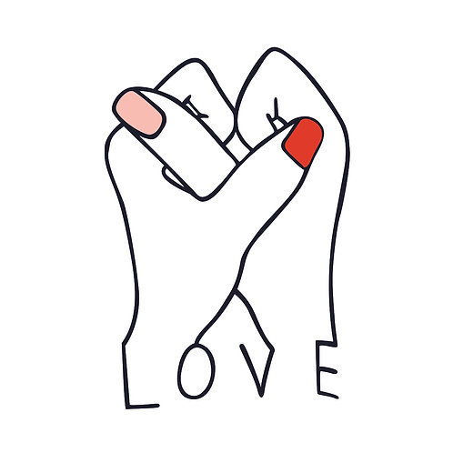 Love | grafikás női fehér pamutpóló