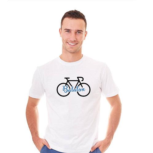 Balaton | bicikli mintás férfi póló