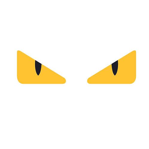 Yellow eyes | grafikás férfi fehér pamutpóló