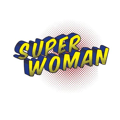 Super woman | grafikás női fehér pamutpóló