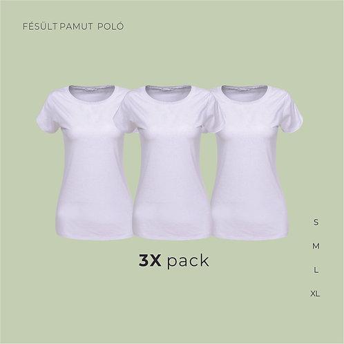 3X pack női T-shirt  | női pamutpoló