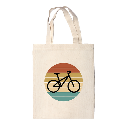 Körben a bicikli | bicikli mintás vászontáska