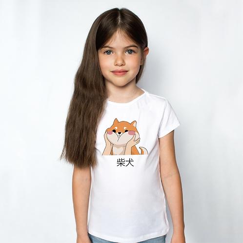 Pufi Shiba | kutyás grafika gyerek póló