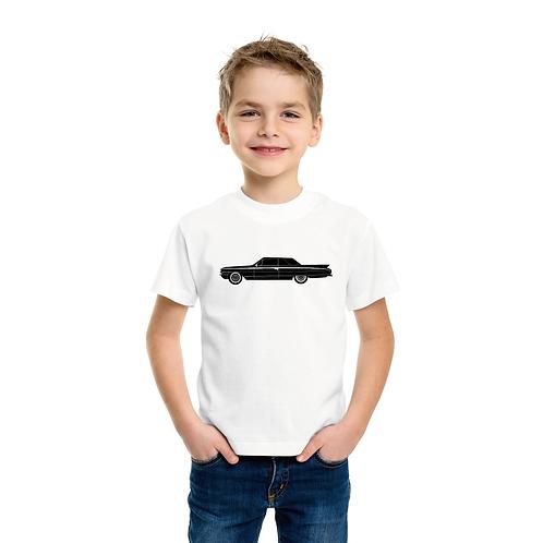 Fekete autó   bicikli mintás kisfiú poló