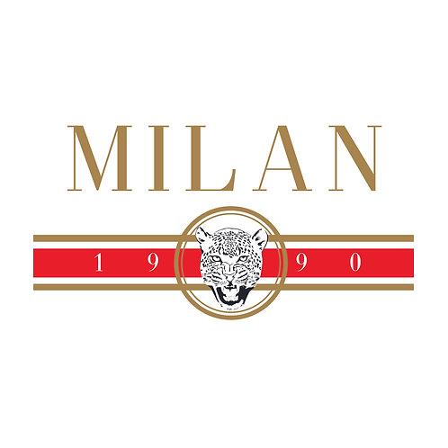 Milan 1990 | grafikás női fehér pamutpóló