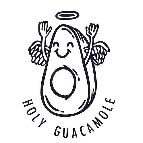 Guacamole | grafikás női fehér pamutpóló