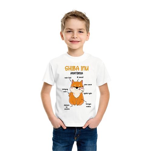 Shiba anatómia | kutyás grafika gyerek póló