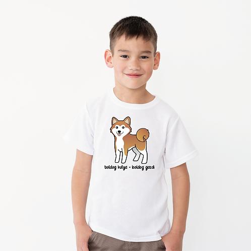 Boldog Shiba | kutyás grafika gyerek póló