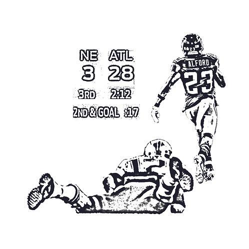 28-3 | grafikás férfi fehér pamutpóló