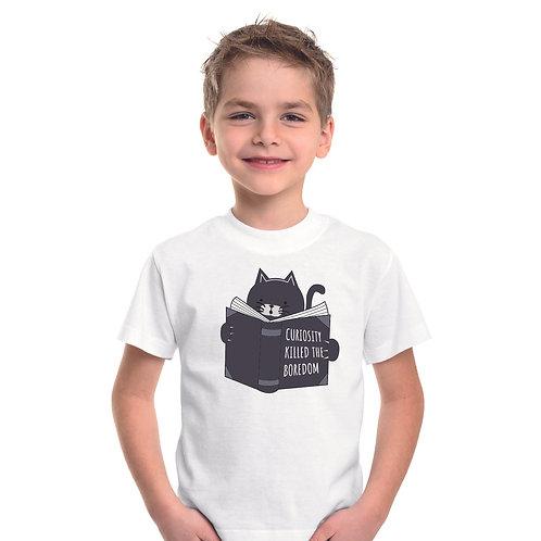 Kivancsi cica | grafikás kisfiú pamutpoló