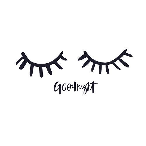 Goodnight | grafikás női fehér pamutpóló