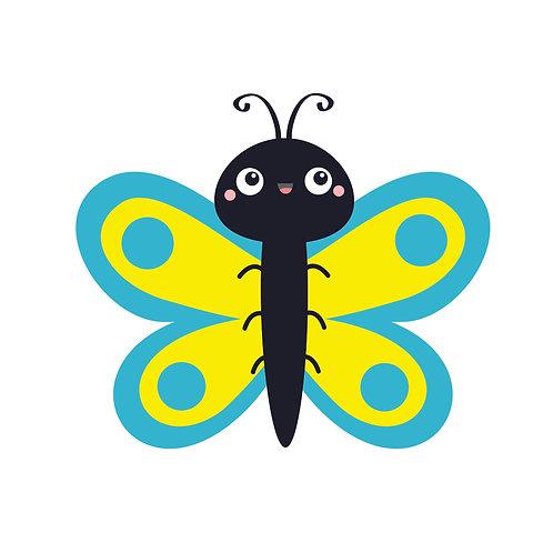 Bee blue | grafikás női fehér pamutpóló