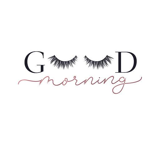 Good morning   grafikás női fehér pamutpóló