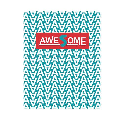 Awesome | grafikás férfi fehér pamutpóló