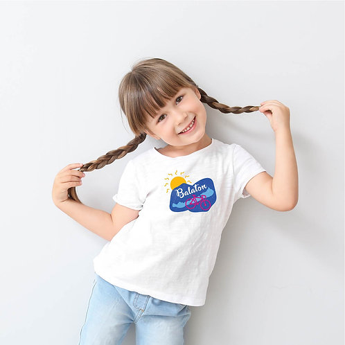 Kék Balaton | bicikli mintás kislány póló