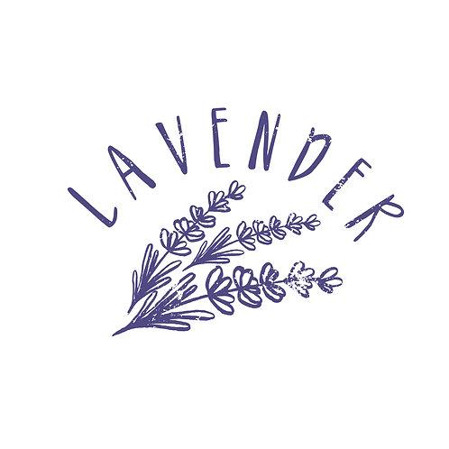 Lavender text | grafikás női fehér pamutpóló