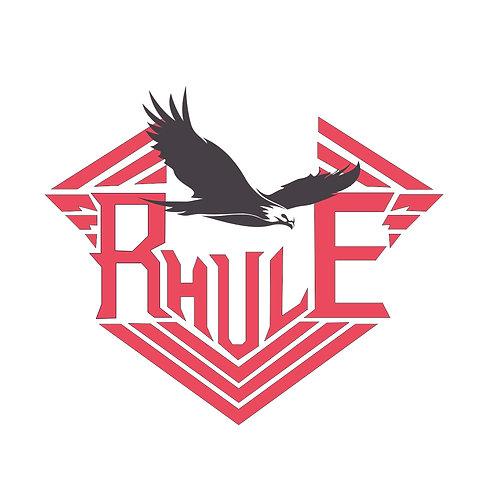 Rhule red | grafikás férfi fehér pamutpóló
