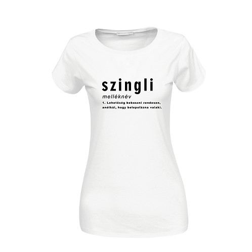 SZINGLI | grafikás pamutpóló