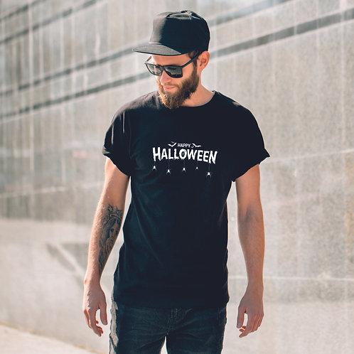 HALLOWEEN| grafikás férfi pamutpóló