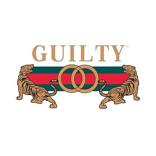 Guilty | grafikás női fehér pamutpóló
