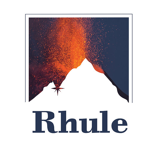 Rhule | grafikás férfi fehér pamutpóló