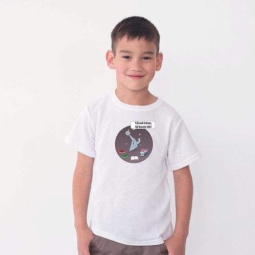 TUL SOK KONYV | grafikás gyerek pamutpoló