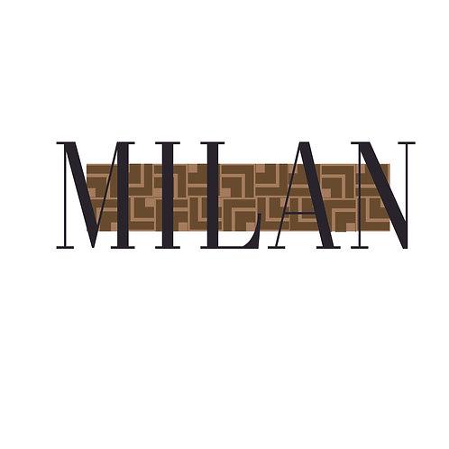 Milan | grafikás női fehér pamutpóló