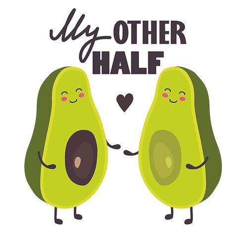 Avocado | grafikás női fehér pamutpóló