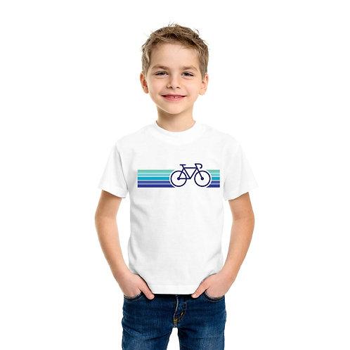 Színes bicikli | bicikli mintás kisfiú poló