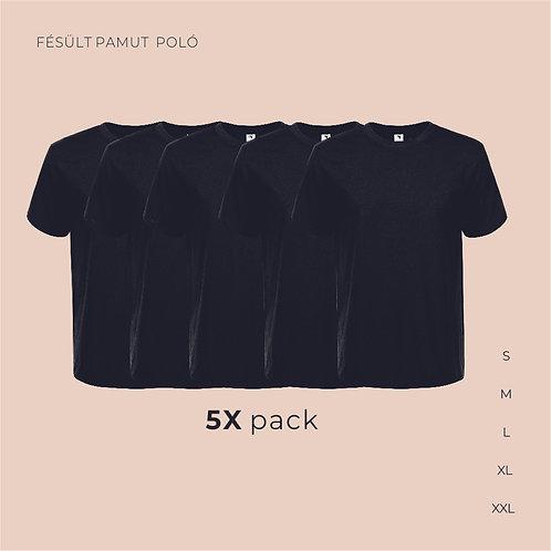 5X pack férfi T-shirt  | férfi pamutpoló