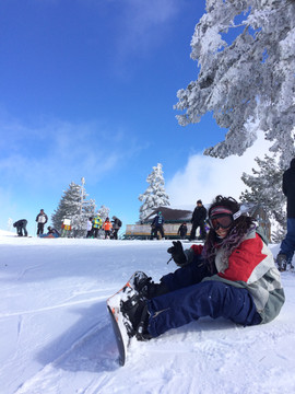 Snow Boarding at Mountain High