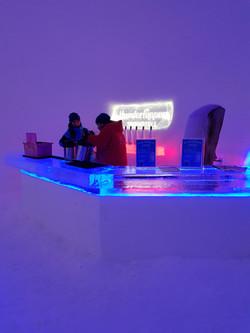 Ice bar at Hunderfossen