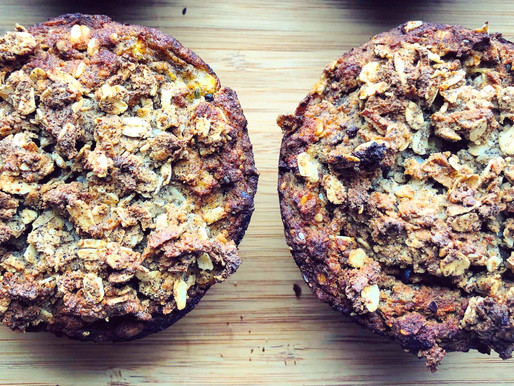 Vegan Island Muffins with a Coconut Streusel