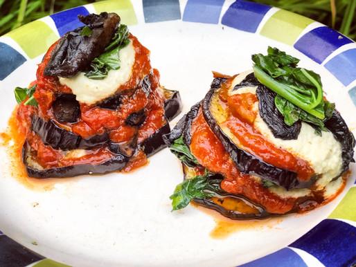 Baked Eggplant Stacks With Cashew Ricotta