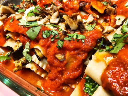 Vegan Lasagna with Cashew Ricotta Cheese