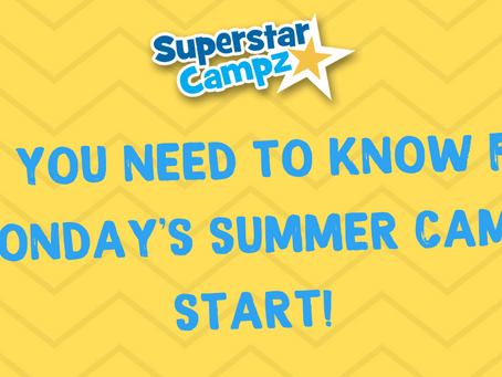 Getting ready for Monday's Superstar Campz Summer Holiday Launch!