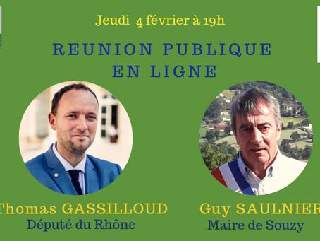 Réunion publique en visioconférence avec Thomas Gassilloud - jeudi 4 février à 19h