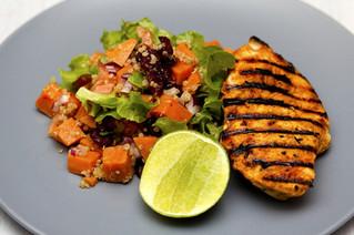 Cuisse de poulet à la patate douce et au brocoli (repas)