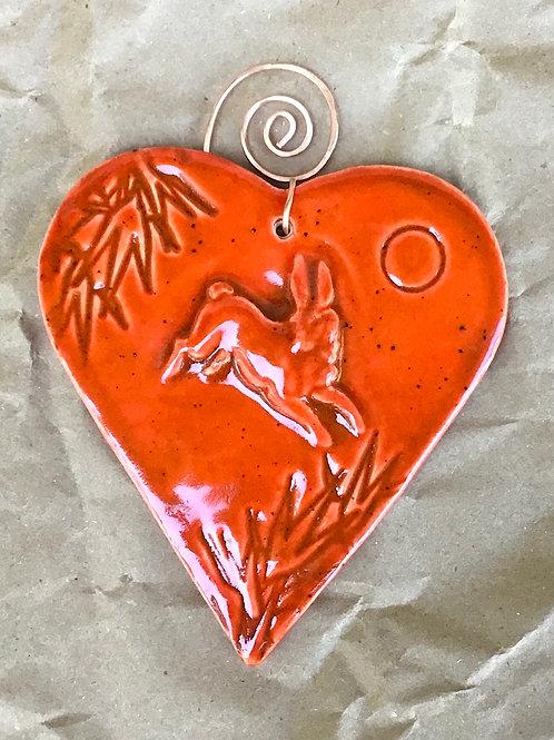 Heart ornament by artist Michelle Makenzie
