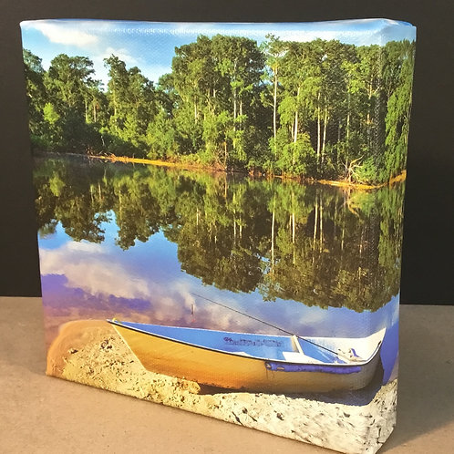 Fishing boat photo canvas print by artist Isaac Jeter