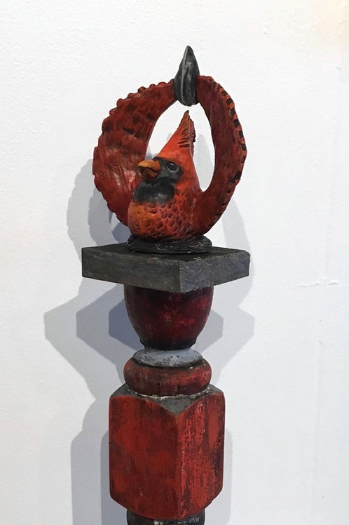 """Raise your Hallelujah"", Cardinal bird sculpture by artist Lee Taylor"